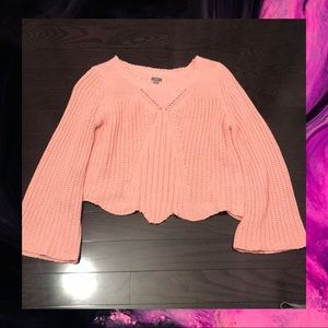 American Eagle Outfitters Sweaters - 3/50🔥 Pink Aerie Flared Sleeve Sweater